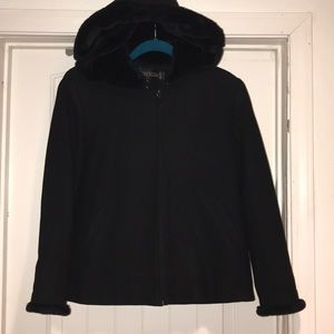 Kristen Blake hooded coat black size M